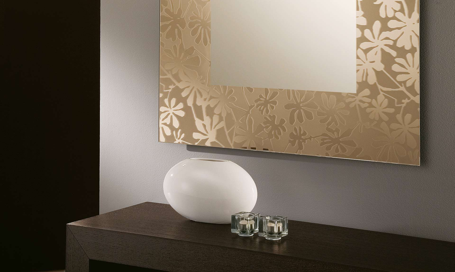 Specchio bronzo diva meroni arreda