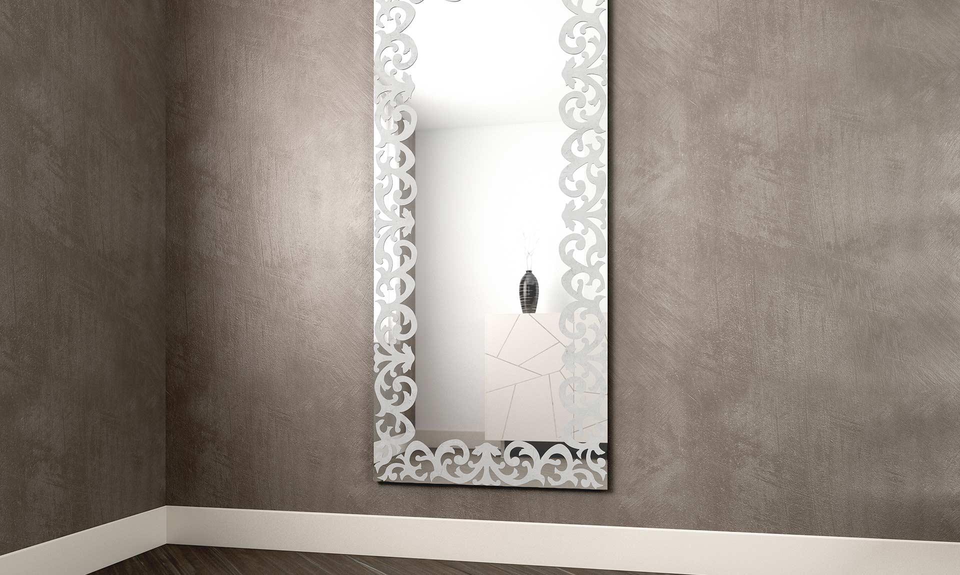 Specchio rettangolare baroque meroni arreda - Specchi rotondi da parete ...