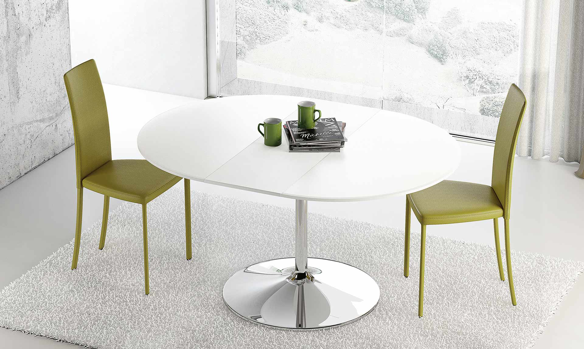 Sedia colorata slim meroni arreda - Tavoli da pranzo classici ...