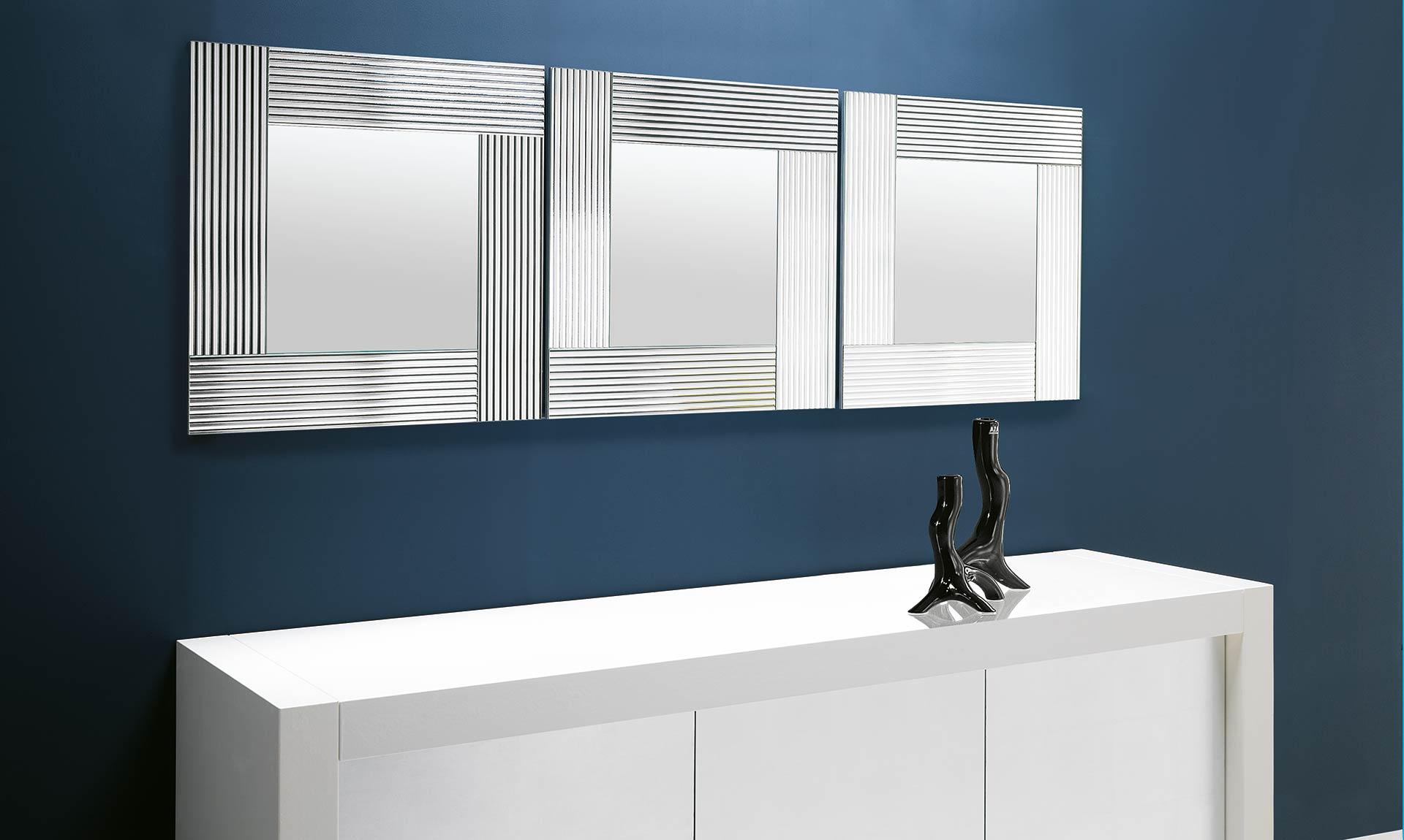Specchio con cornice specchiante flute meroni arreda - Specchio con cornice ...
