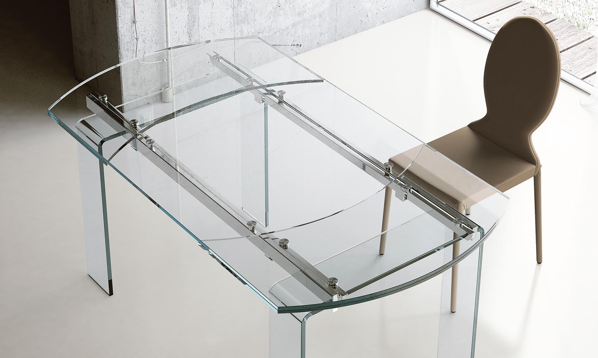 Tavolo ovale allungabile in vetro lord meroni arreda - Tavolo ovale vetro ...