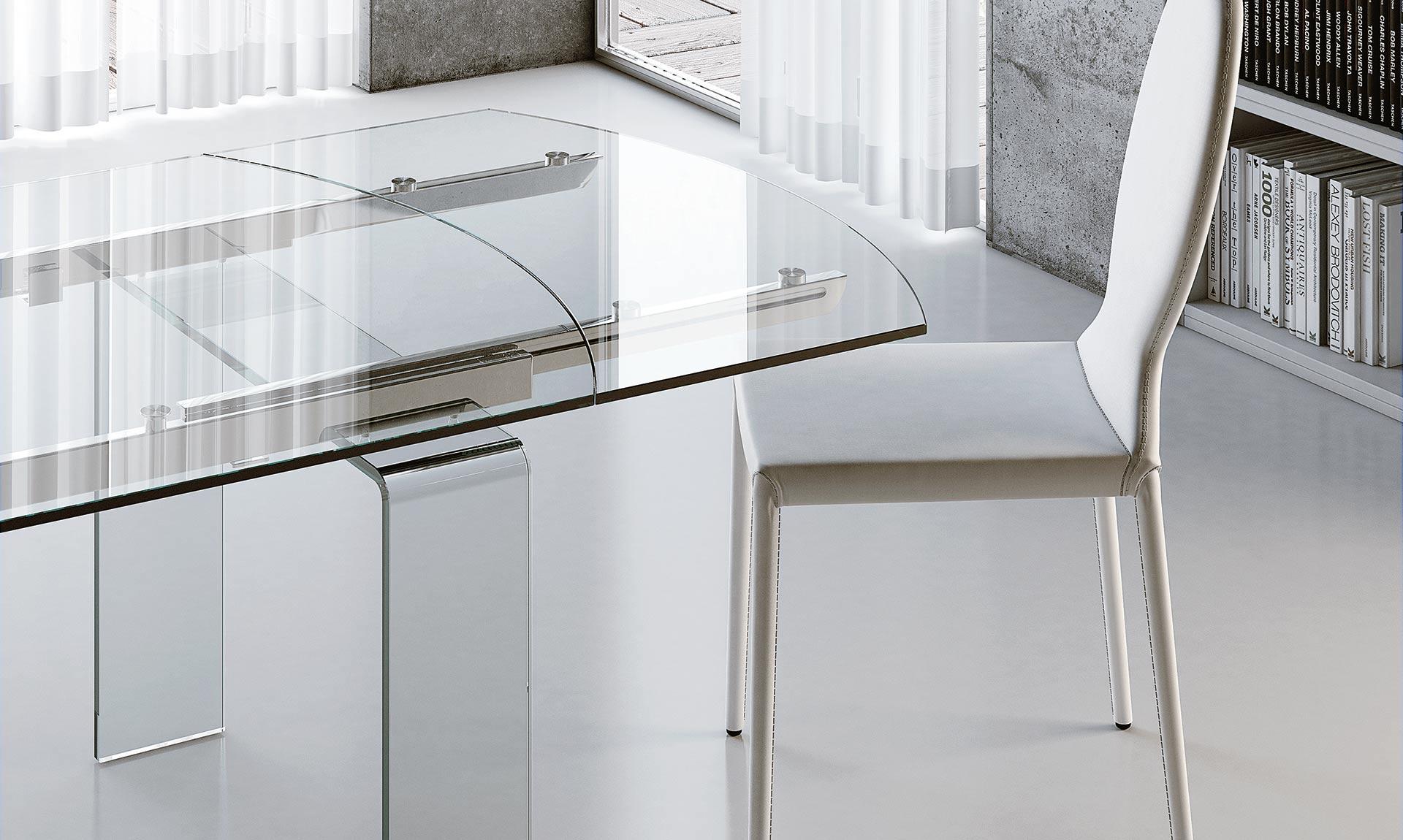 Tavolo ovale allungabile in vetro lord meroni arreda - Tavolo vetro ovale ...