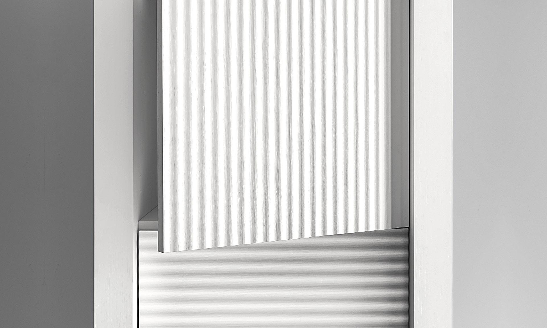 La Credenza Di Picasso : Credenza di design picasso p3 anta onda laccato bianco meroni arreda
