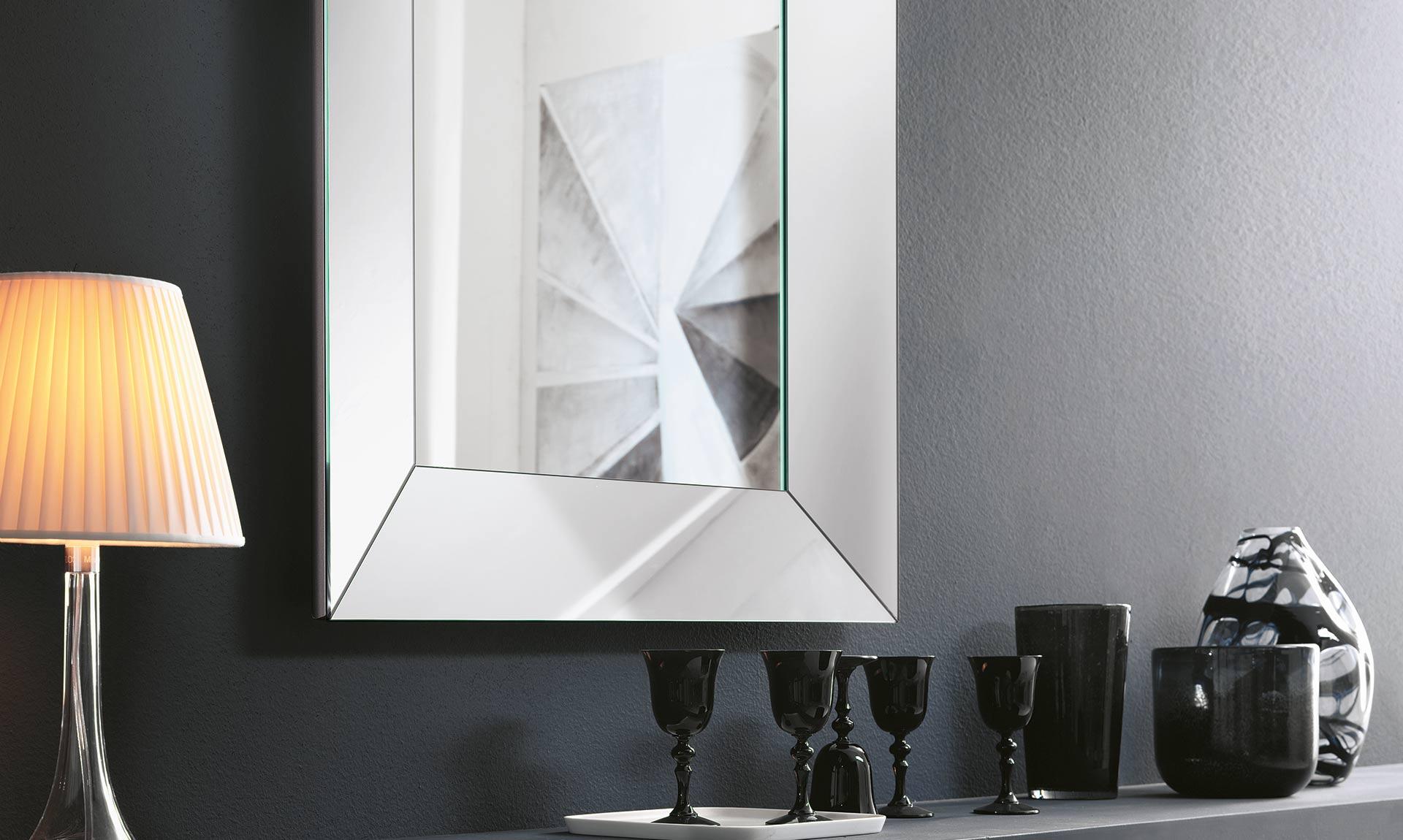 Specchio Da Parete Trapezio Meroni Arreda