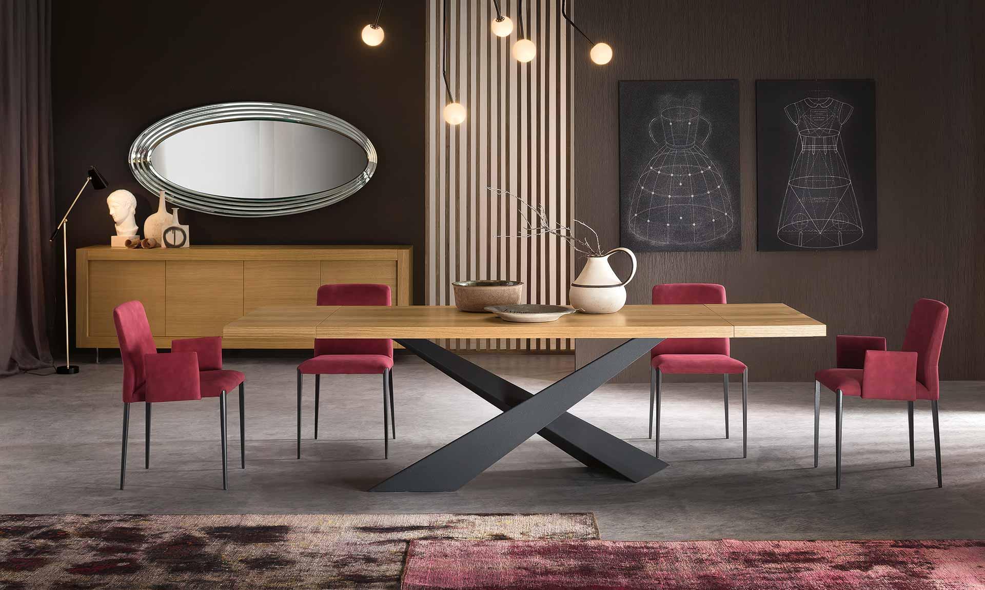 Tavolo moderno living meroni arreda for Aurora arreda