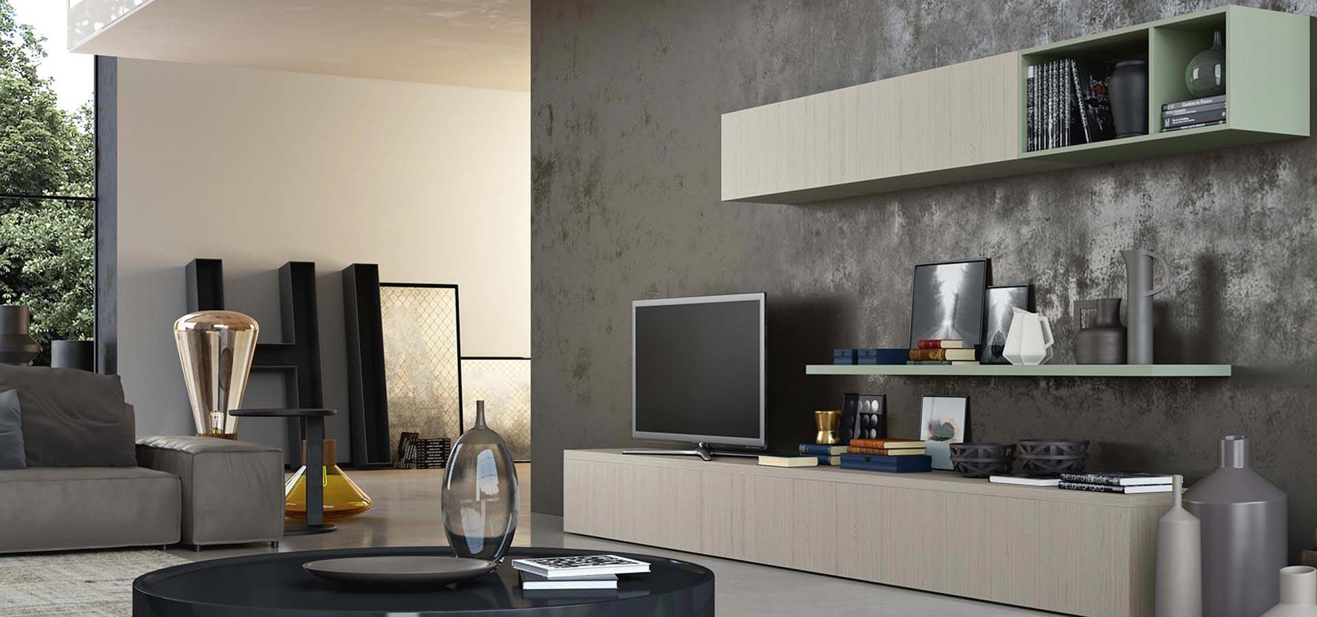 Wega setting 14 meroni arreda for Soggiorni living moderni